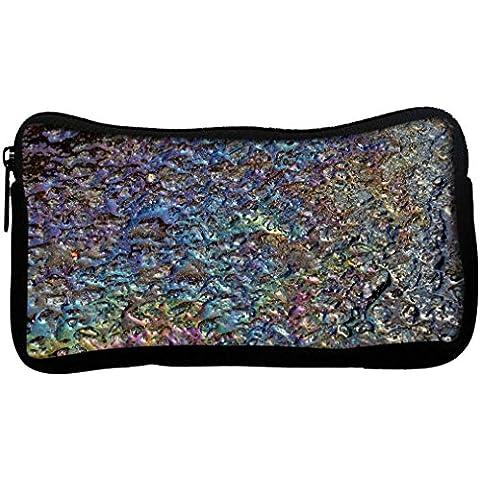 Snoogg chimici in metallo colorati in tela Student-Penna con astuccio con portamonete, multiuso per trucco
