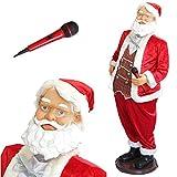 Babbo Natale karaoke lux.pro 150cm Espositore con microfono Canta, balla e muove addirittura le labbra Santa Claus