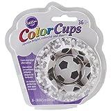 Caissettes de Cuisson Ballons de Football, Colour Cups, Taille Standard, Pack de 36