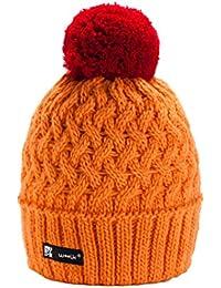 ee2654c83d6 Morefaz Unisex Women Men Girls Winter Beanie Hat Wool Knitted Cookie with  Pom Pom Cap SKI Snowboard Hats…
