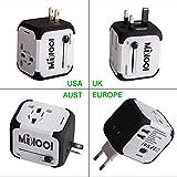 Universellen Reise-Adapter mit Doppel USB-Ports aus 150 Ländern weltweit US UK EU AU Universal fusionierten Sicherheit AC-in einem Ladegerät (Weiß)