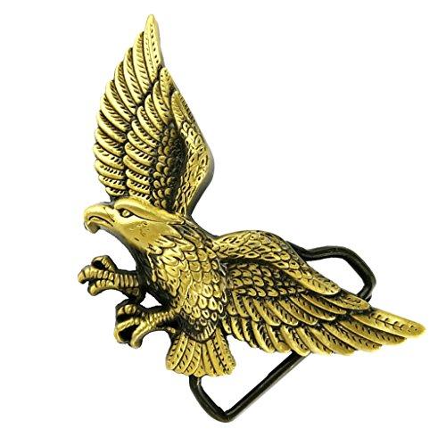 MagiDeal Herren Mode Schmuck Zubehör Westlich Cowboy 3D Fliegende Adler Muster Gürtelschnalle (Herren-fliegender - Adler)