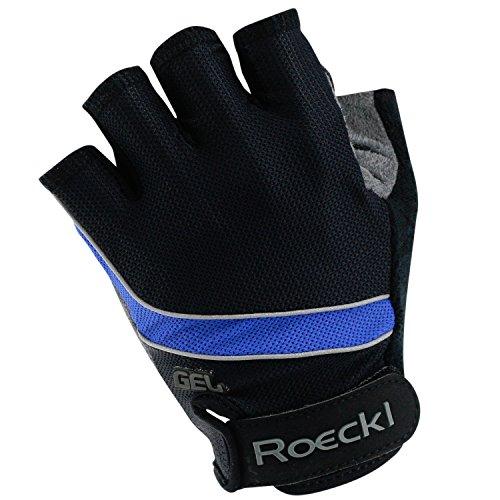 Roeckl Gel Fahrradhandschuhe Sommer schwarz-blau 1003, Größe:6