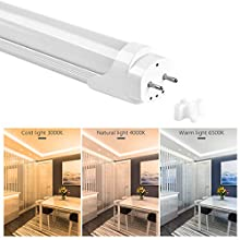 T8 18W LED Fluorescent Tube 120CM 3 Color Temperature 3000K 4000K 6500K Low-Energy LED Daylamps Light for Living Room Kitchen Bedroom Hallway Factory