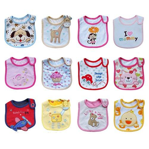 Wasserdicht Baby Lätzchen Baumwolle Essen Sabberlätzchen Babylätzchen (Giraffe) - 2