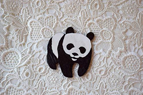 Panda hölzerne Brosche Tier abzeichen hölz erner Stift Handgemalter Panda bärn stift jugendlich Geschenk Freundin geschenk Schalzusatz Tierliebhaber geschenk Weltweiter Fonds für Natur