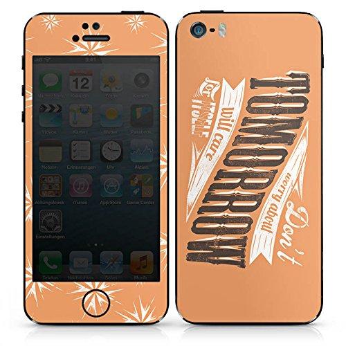 Apple iPhone 4s Case Skin Sticker aus Vinyl-Folie Aufkleber Tomorrow Zukunft Sprüche DesignSkins® glänzend