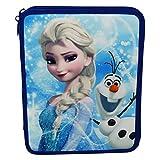 Disney Frozen Astuccio Due Zip Maxi Portapastelli Portapenne Colori Pennarelli