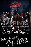 Daredevil-Poster Foto 30.48 x 20.32 cm, mit Autogramm, aus Charlie Cox, Deborah Ann Woll Elden Henson Vincent D'Onofrio Autogramm Print perfekte Geschenk, Stil A