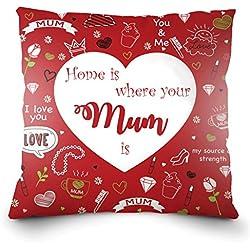 Almohada para Celebración del Dia de La Madre - Cojín Decorativo con Frase – Regalo Ideal para Mamá Grabada– Accesorio de Decoración para Sofá o Cama – Hecho de 100% Lino