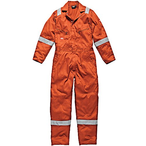 DICKIES MENS WORKWEAR COTTON COVERALL ORANGE WD2279O