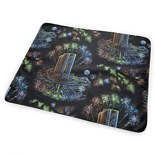 Hilton Hawaiian Village (Hilton Hawaiian Village Friday Night Lights Washable Incontinence Pad Baby Changing Pad Pet Mat Large Size 25.5 x 31.5 inch (65cm*80cm))