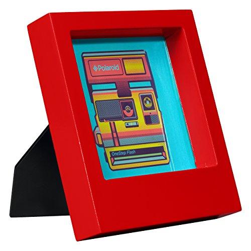 Polaroid Schreibtisch Rahmen–Rot