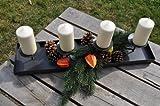 KUHEIGA Kerzenleuchter, Advent, Länge: ca. 60 cm, Adventsleuchter