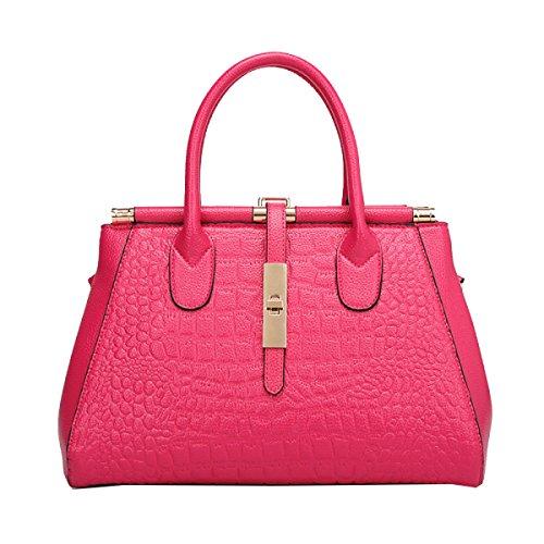 Yy.f Geprägte Tasche Krokodilhandtaschen Große Taschen Modische Handtasche Neue Taschen Modische Damen-Taschen Bunte Taschen Pink