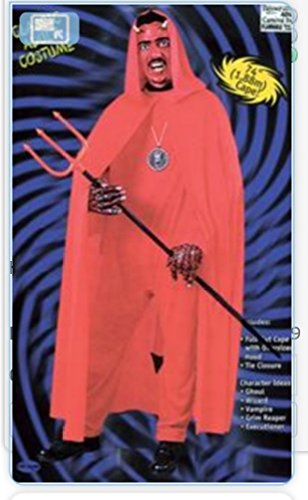 Hooded Cape Kapuzen Umhang Rot 172cm Länge Kostüm Onesize
