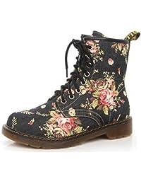 La Sra. Fralosha leopardo del calzado la suela antideslizante de interiores de zapatos de señora de casa en invierno suave felpa botas (Rosa) IihpFkp