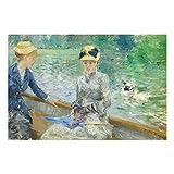 Stampa su vetro - Berthe Morisot - Summer's Day - orizzontale 2:3 quadri da parete decorazioni murali decorazioni vetro stampa su vetro quadri in vetro per pareti quadri in vetro da parete, Dimensione: 60cm x 90cm