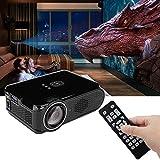 Estink Video Proyector Portátil Vídeo 1080P Soporte para cine en casa con Mini proyector multimedia LED, enchufe UE 110-240 V