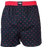 Happy Shorts Webboxer Herren Boxer Motiv Boxershorts Farbwahl, Grösse:L - 6-52, Präzise Farbe:Herz - Hearts
