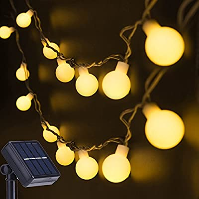 2 Sets Solar String Lights, 13Ft 30LED Garden Fairy Lights Warm White Globe Berry Lights Waterproof for Outdoor Tree, Patio, Wedding Party Decoration by Decornova