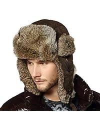 BoBo-88 Snow Winter Men Men Outdoors 100% Bomber Trapper Sci Russia Cappello  Hat di Unique Stlie Pelliccia… 9375ee73c11d