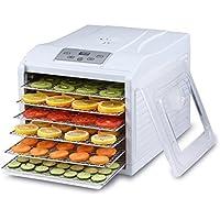 BioChef Arizona Sol 6 - Deshidratador de alimentos | 500W | Deshidratadora con 6 bandejas extraíbles e inoxidables | Termostato ajustable | Pantalla digital y temporizador | Sin BPA