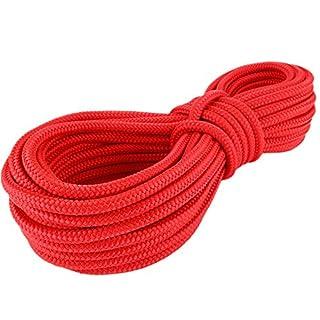 PP Seil Polypropylenseil SH 6mm 30m Farbe Rot (0114) Geflochten