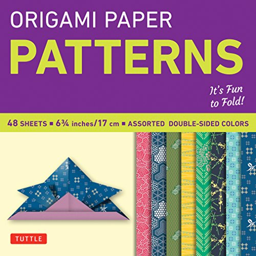 Origami Paper - Patterns - Small 6 3/4-49 Sheets: Tuttle Origami Paper: High-Quality Origami Sheets Printed with 8 Different Designs: Instructions for 6 Projects Included (Origami Paper Packs)