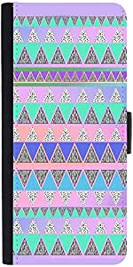 Snoogg Pyramid Aztec Graphic Snap On Hard Back Leather + Pc Flip Cover Samsun...