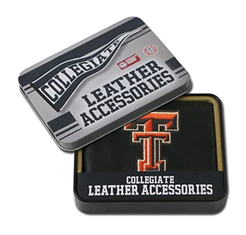 NCAA Texas Tech Red Raiders Embroidered Genuine Leather Billfold Wallet