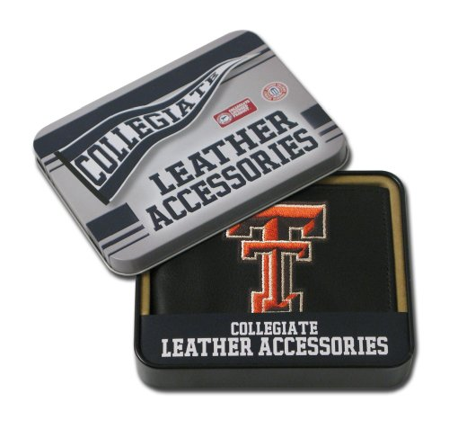 NCAA Alabama Geldbörse aus Leder, Bestickt, Herren, Texas Tech Red Raiders