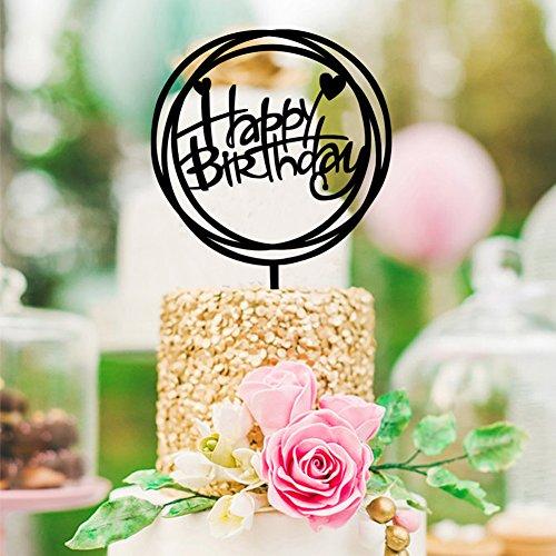 Dale a tu familia y amigos una perfecta tarta de cumpleaños - feliz cumpleaños. ¡Amigos! Detalles del producto (1) Material: acrílico. (2) Tamaño (L x W x T): A: 11,5 cm x 16,7 cm x 0,2 cm. B: 11,2 cm x 17 cm x 0,2 cm. C: 17 cm x 11,2 cm x 0,2 cm. D:...