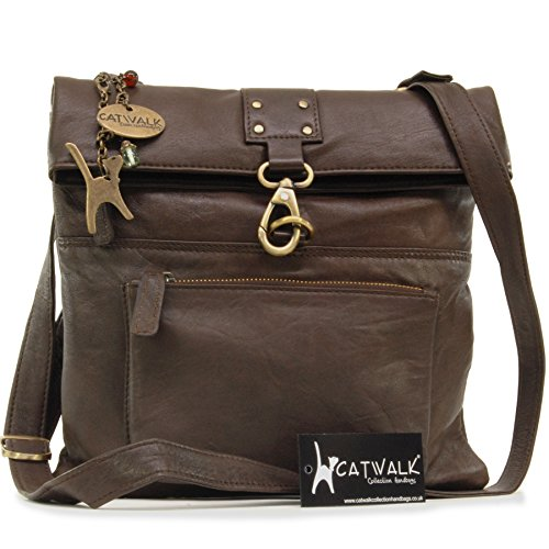 - 51LuSdjDUsL - Catwalk Collection Leather Cross-Body Bag – Dispatch