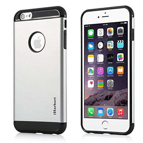 iPhone 6S Plus Hülle - iHarbort® ULTRA Rüstung iPhone 6 6S Plus Hülle Tasche case cover Schutzhülle mit Dual-layer Shock Absorbion funktion iPhone 6 6S Plus Cover (weiß) silber