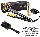ghd Max - Plancha para el cabello con cepillo de cerámica y aceite de lujo reconstructivo Wella SP