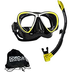 Masque anti twin synergy masque et tuba de scubapro spectra en bomotabag Noir/jaune