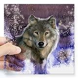 CafePress Wolf 10x 10Aufkleber 3x 3, farblos, 5x5