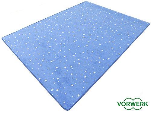 HEVO Vorwerk Bijou Stars blau Teppich | Kinderteppich | Spielteppich 150x200 cm Sonderedition