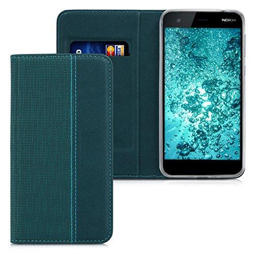 kwmobile Nokia 2 Cover - Custodia a Libro in Simil Pelle PU per Smartphone Nokia 2 - Flip Case Protettiva