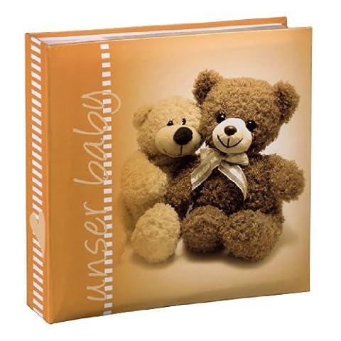 Hama Baby Einsteck Fotoalbum Michi (für 200 Fotos im Format 10 x 15 cm) orange