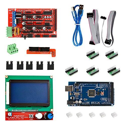 XCSOURCE 3D Kit Stampante RAMPE 1.4 MEGA 2560 A4988 LCD 12864 scheda controller RepRap TE 394