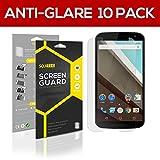 SOJITEK Motorola Nexus 6 Premium Anti-Glare Anti-fingerprint Matte Screen Protector [10-Pack] - Lifetime Replacements Warranty + Retail Packaging
