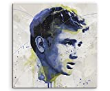 Paul Sinus Art James_Dean_I_Splash_60x60cm Wandbild Leinwand, 90 x 50 x 3 cm, Mehrfarbig