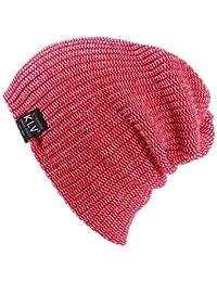 Scrox 1x Gorros Invierno Mujer Suave Gorro de Croché Unisex Lanas para  Tejer Sombrero Color sólido 4bd99b7352d