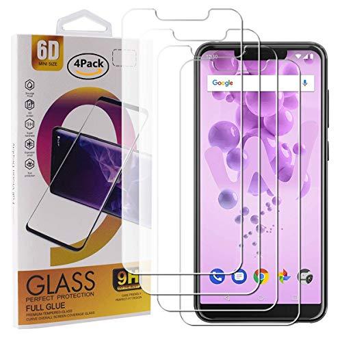 guran 4 pezzi pellicola protettiva in vetro temperato per wiko view 2 go smartphone 9h durezza anti-impronte hd alta trasparenza pellicola