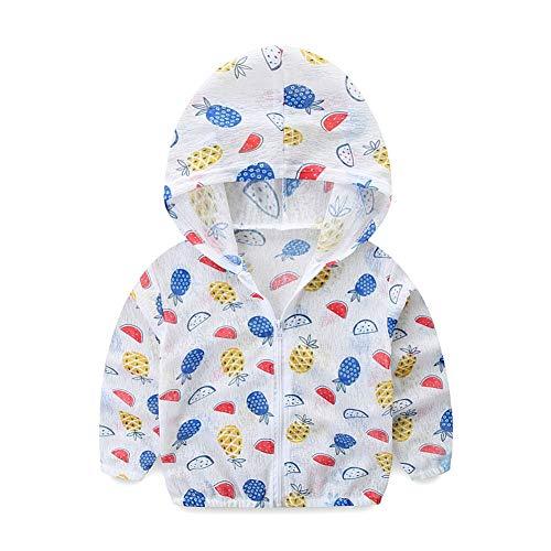 Kid UV Sonnenschutzkleidung Sommer Ultradünnes ReißverschlussHoodie Oberbekleidung Jacken-Mantel Für Jungen-Mädchen