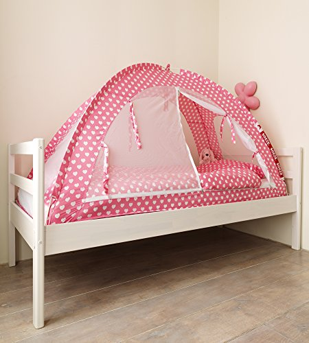 Moskitonetz Reisebett Insektenschutz Pink Hearts (200cm X 90cm)