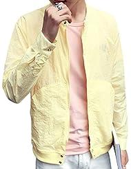 Minetom Hombres Casual Slim Fit Chaqueta Moda Light Jacket Manga Larga Cárdigan Con Cremallera