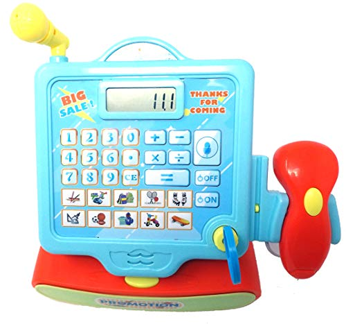 Brigamo Elektrische Spielzeug Kasse, Registrierkasse Kassenstation mit großer Display Folientastatur